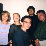 亡き越智順子さんとの2003年 心斎橋Art Clubでの出演時の貴重な写真が見つかりました。 (左からママ、越智さん、B魚谷さん、Sax鈴木さん、と僕)